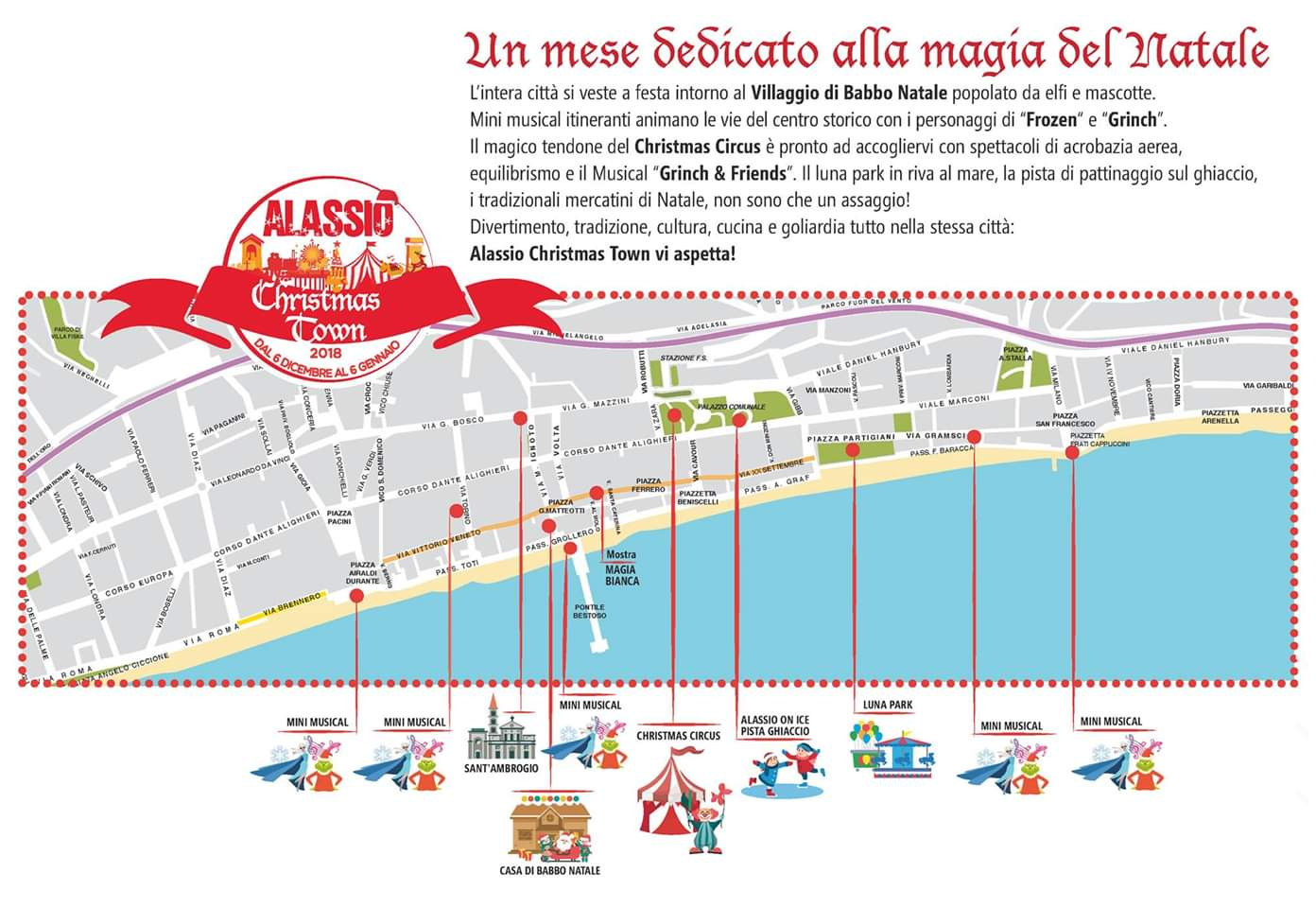 Alassio Christmas Town map